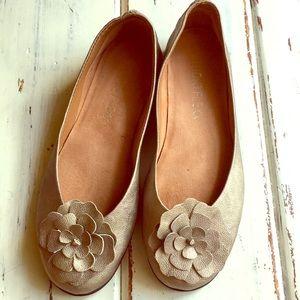 Studio Flexx muted gold flower detail  heel flats